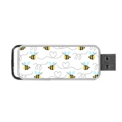 Wasp Bee Fly Yellow Black Blue Hanny Love Portable Usb Flash (two Sides) by Jojostore
