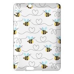 Wasp Bee Fly Yellow Black Blue Hanny Love Kindle Fire Hdx Hardshell Case by Jojostore