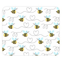 Wasp Bee Fly Yellow Black Blue Hanny Love Double Sided Flano Blanket (small)  by Jojostore