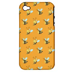 Wasp Bee Hanny Yellow Fly Animals Apple Iphone 4/4s Hardshell Case (pc+silicone) by Jojostore