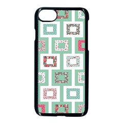 Foto Frame Cats Quilt Pattern View Collection Fish Animals Apple Iphone 7 Seamless Case (black) by Jojostore