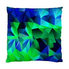 Galaxy Chevron Wave Woven Fabric Color Blu Green Triangle Standard Cushion Case (two Sides) by Jojostore