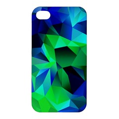 Galaxy Chevron Wave Woven Fabric Color Blu Green Triangle Apple Iphone 4/4s Premium Hardshell Case by Jojostore