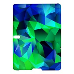 Galaxy Chevron Wave Woven Fabric Color Blu Green Triangle Samsung Galaxy Tab S (10.5 ) Hardshell Case  by Jojostore