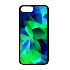 Galaxy Chevron Wave Woven Fabric Color Blu Green Triangle Apple Iphone 7 Plus Seamless Case (black) by Jojostore