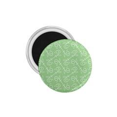 Formula Leaf Floral Green 1 75  Magnets by Jojostore