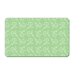 Formula Leaf Floral Green Magnet (rectangular) by Jojostore