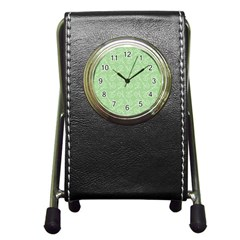 Formula Leaf Floral Green Pen Holder Desk Clocks by Jojostore