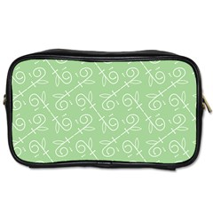 Formula Leaf Floral Green Toiletries Bags 2 Side by Jojostore
