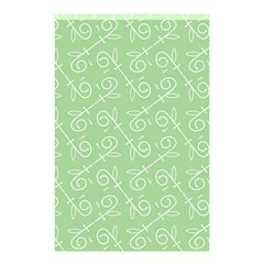 Formula Leaf Floral Green Shower Curtain 48  X 72  (small)  by Jojostore