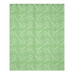 Formula Leaf Floral Green Shower Curtain 60  X 72  (medium)  by Jojostore