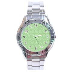 Formula Leaf Floral Green Stainless Steel Analogue Watch by Jojostore