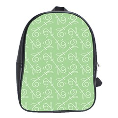 Formula Leaf Floral Green School Bags (xl)  by Jojostore