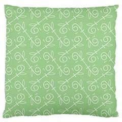 Formula Leaf Floral Green Standard Flano Cushion Case (one Side) by Jojostore