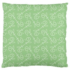 Formula Leaf Floral Green Large Flano Cushion Case (two Sides) by Jojostore