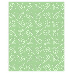 Formula Leaf Floral Green Drawstring Bag (small) by Jojostore