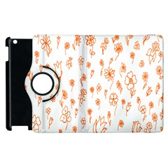 Flower Floral Tulip Orange Apple Ipad 3/4 Flip 360 Case by Jojostore