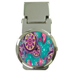Vintage Butterfly Floral Flower Rose Star Purple Pink Green Yellow Animals Fly Money Clip Watches by Jojostore