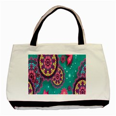 Vintage Butterfly Floral Flower Rose Star Purple Pink Green Yellow Animals Fly Basic Tote Bag by Jojostore