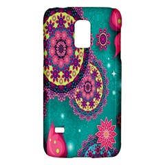 Vintage Butterfly Floral Flower Rose Star Purple Pink Green Yellow Animals Fly Galaxy S5 Mini by Jojostore