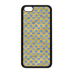 Diamond Heart Card Valentine Love Blue Yellow Gold Apple Iphone 5c Seamless Case (black) by Jojostore