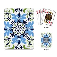 Flower Floral Jpeg Playing Card by Jojostore