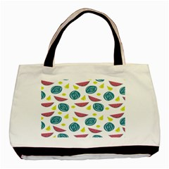 Summer Fruit Watermelon Water Guava Onions Basic Tote Bag (two Sides) by Jojostore