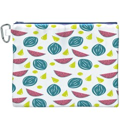 Summer Fruit Watermelon Water Guava Onions Canvas Cosmetic Bag (XXXL)