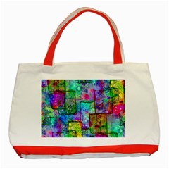 Rainbow Floral Doodle Classic Tote Bag (red) by KirstenStar