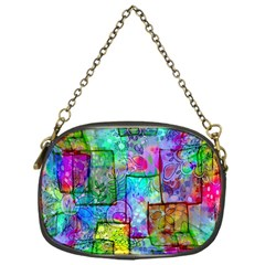 Rainbow Floral Doodle Chain Purses (one Side)  by KirstenStar