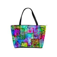 Rainbow Floral Doodle Shoulder Handbags by KirstenStar