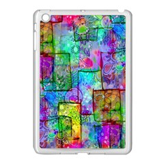 Rainbow Floral Doodle Apple Ipad Mini Case (white) by KirstenStar