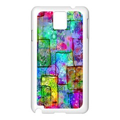 Rainbow Floral Doodle Samsung Galaxy Note 3 N9005 Case (white) by KirstenStar
