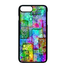 Rainbow Floral Doodle Apple Iphone 7 Plus Seamless Case (black) by KirstenStar