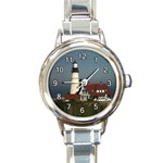 LIGHT HOUSE ROUND ITALIAN CHARM WATCH