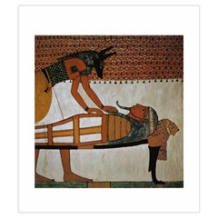 Imhotep White Stone Bag By David Gullett   Drawstring Pouch (small)   Bnzrtt2bab7y   Www Artscow Com Front