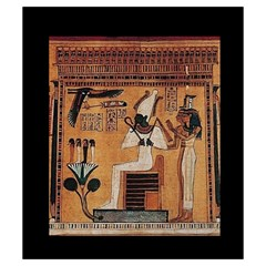 Imhotep Black Stone Bag By David Gullett   Drawstring Pouch (small)   2yd7yjtvk73z   Www Artscow Com Front