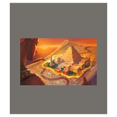 Imhotep Grey Stone Draw Bag Game Art By David Gullett   Drawstring Pouch (small)   D941dlzwavd2   Www Artscow Com Back