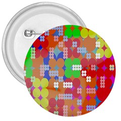 Abstract Polka Dot Pattern 3  Buttons by Nexatart