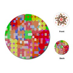 Abstract Polka Dot Pattern Playing Cards (round)  by Nexatart