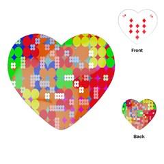 Abstract Polka Dot Pattern Playing Cards (heart)  by Nexatart