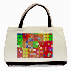 Abstract Polka Dot Pattern Basic Tote Bag (two Sides)