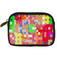Abstract Polka Dot Pattern Digital Camera Cases