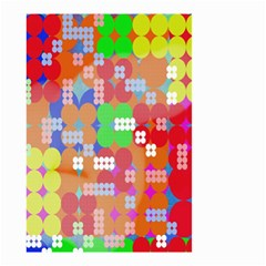 Abstract Polka Dot Pattern Small Garden Flag (two Sides) by Nexatart