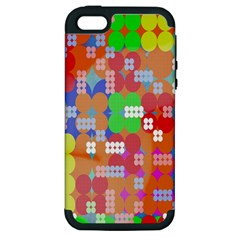 Abstract Polka Dot Pattern Apple Iphone 5 Hardshell Case (pc+silicone)