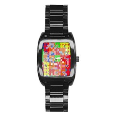 Abstract Polka Dot Pattern Stainless Steel Barrel Watch by Nexatart