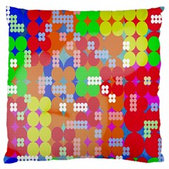 Abstract Polka Dot Pattern Large Flano Cushion Case (two Sides) by Nexatart