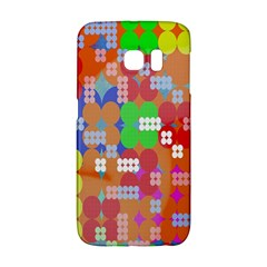 Abstract Polka Dot Pattern Galaxy S6 Edge by Nexatart