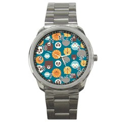 Animal Pattern Sport Metal Watch by Nexatart