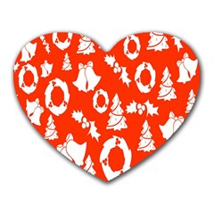 Backdrop Background Card Christmas Heart Mousepads